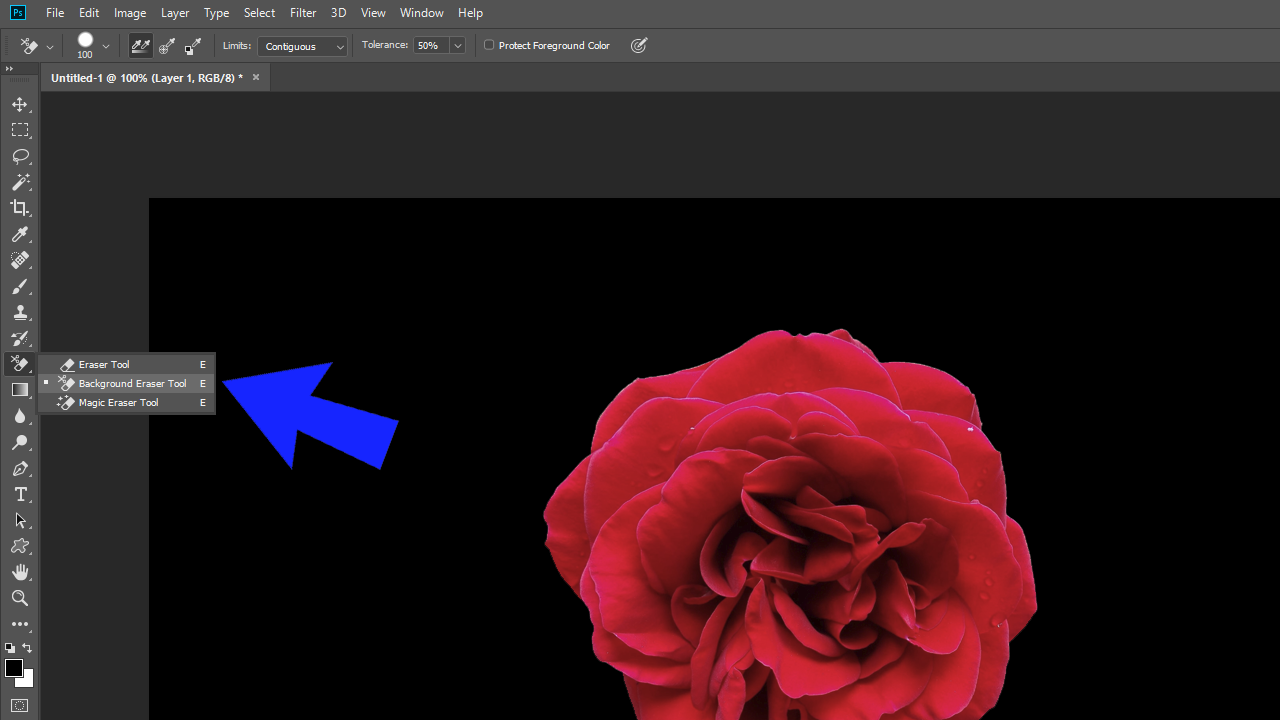 Cara Menghapus Background dengan Background Eraser Tool Untuk Pemula