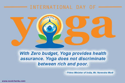 Yoga Day is celebrated annually on 21 June every year.