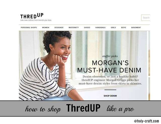 saving money using an on-line thrift store