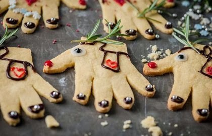 , Great British Chefs Reindeer Hand Cookies Kid's Christmas  Recipe