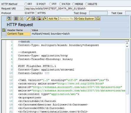 OData $batch processing in SAP Gateway Service - SAP ABAP