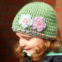 touch of spring crochet hat