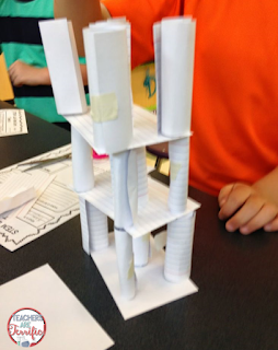 STEM Challenge: This one use one supply! Easy prep, easy clean up, great learning, and super fun! What could be easier!