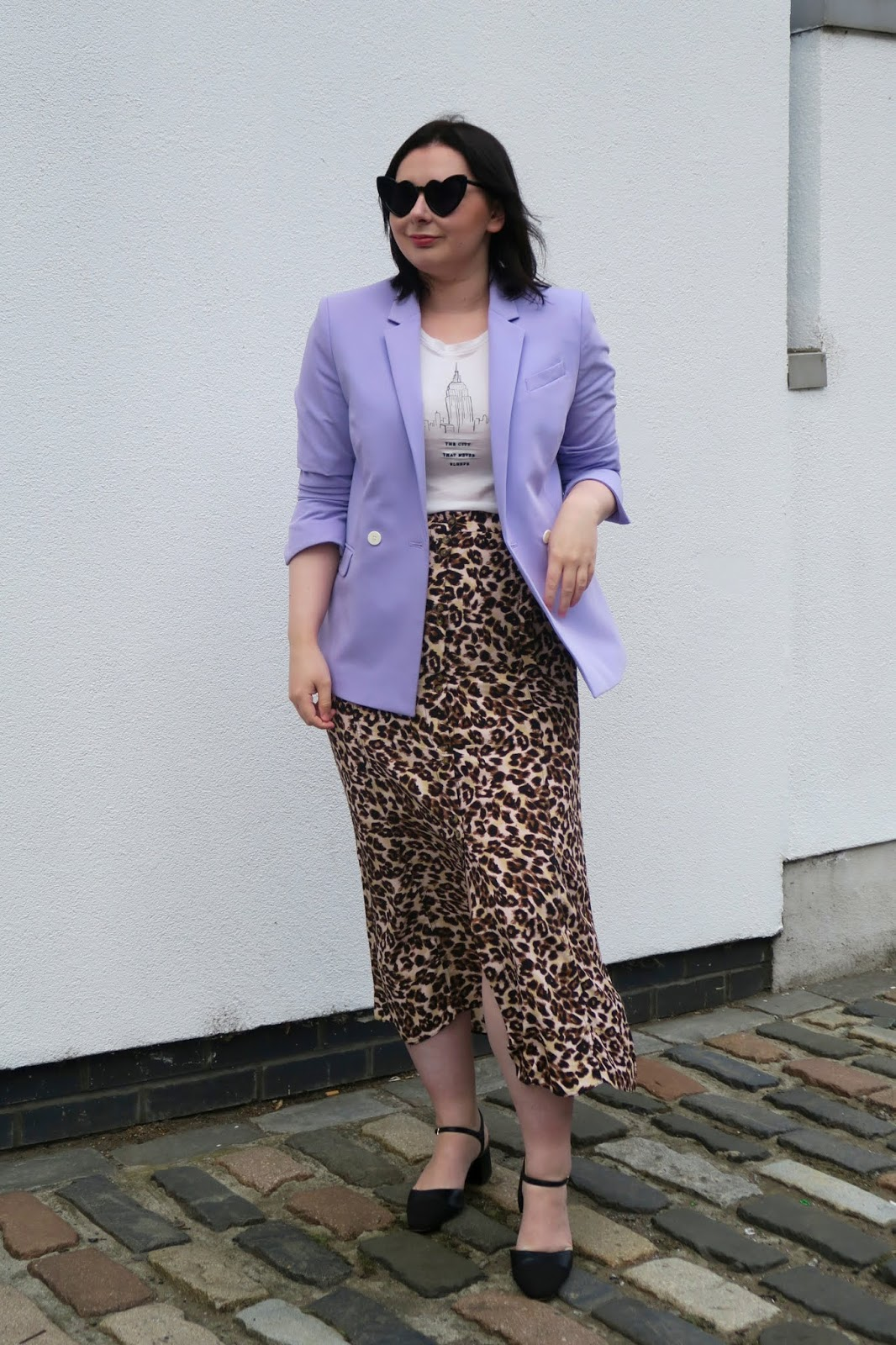 How to wear leopard print- leopard skirt and blazer