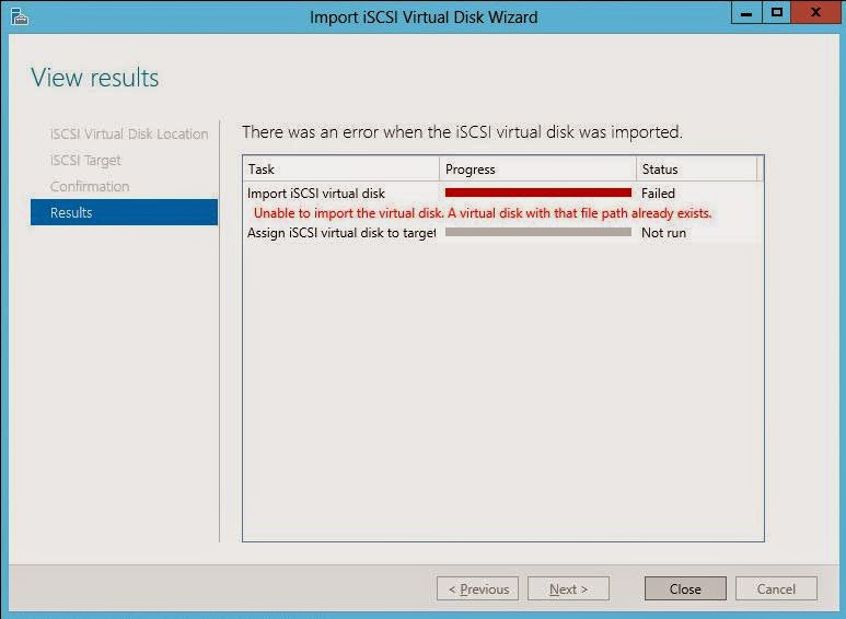 Windows: iSCSI Target Server – windows 2012 server standard