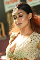 Apoorva Spicy Pics in Cream Deep Neck Choli Ghagra WOW at IIFA Utsavam Awards 2017 68.JPG