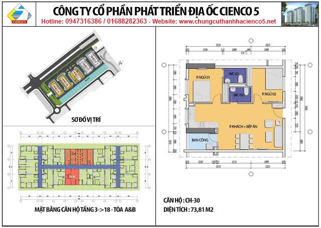 Sơ đồ thiết kế căn 30 chung cư B2.1 HH02A&B Thanh Hà Cienco 5
