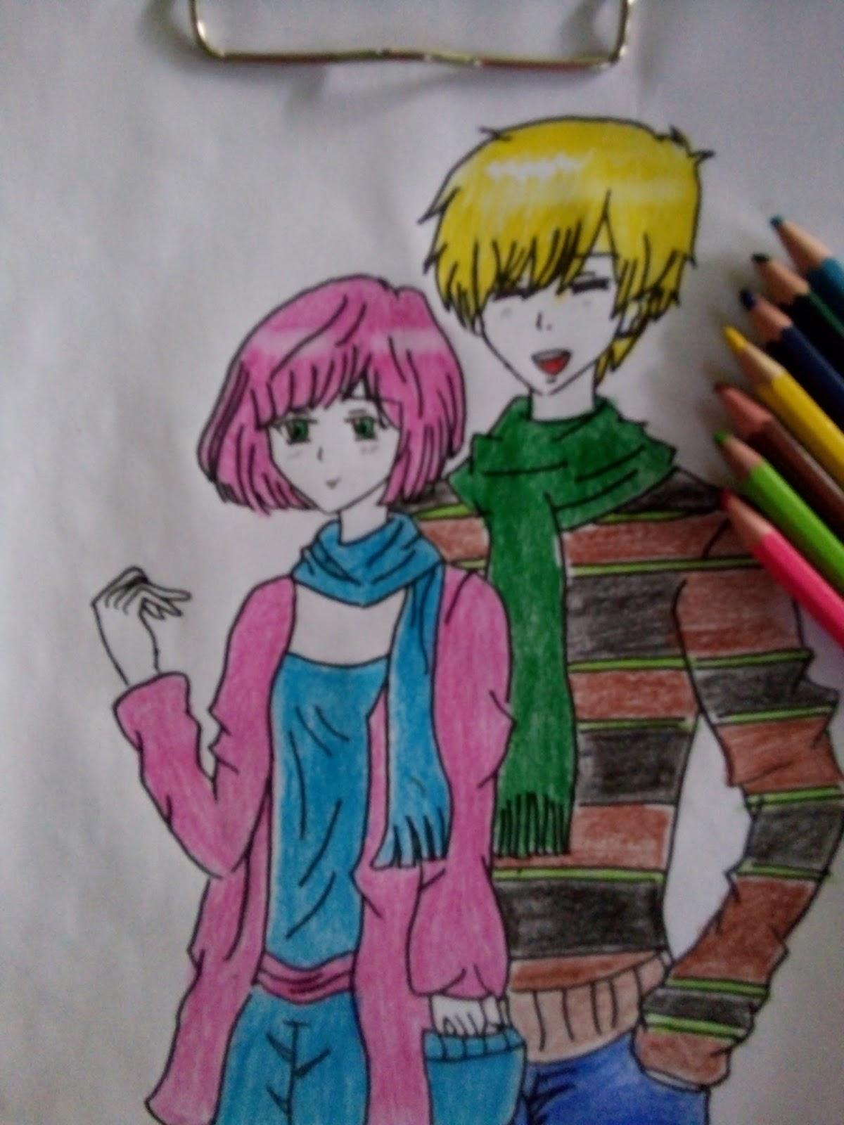 Gambaran harian dewi manga tutorial menggambar manga couple dengan pose simpel