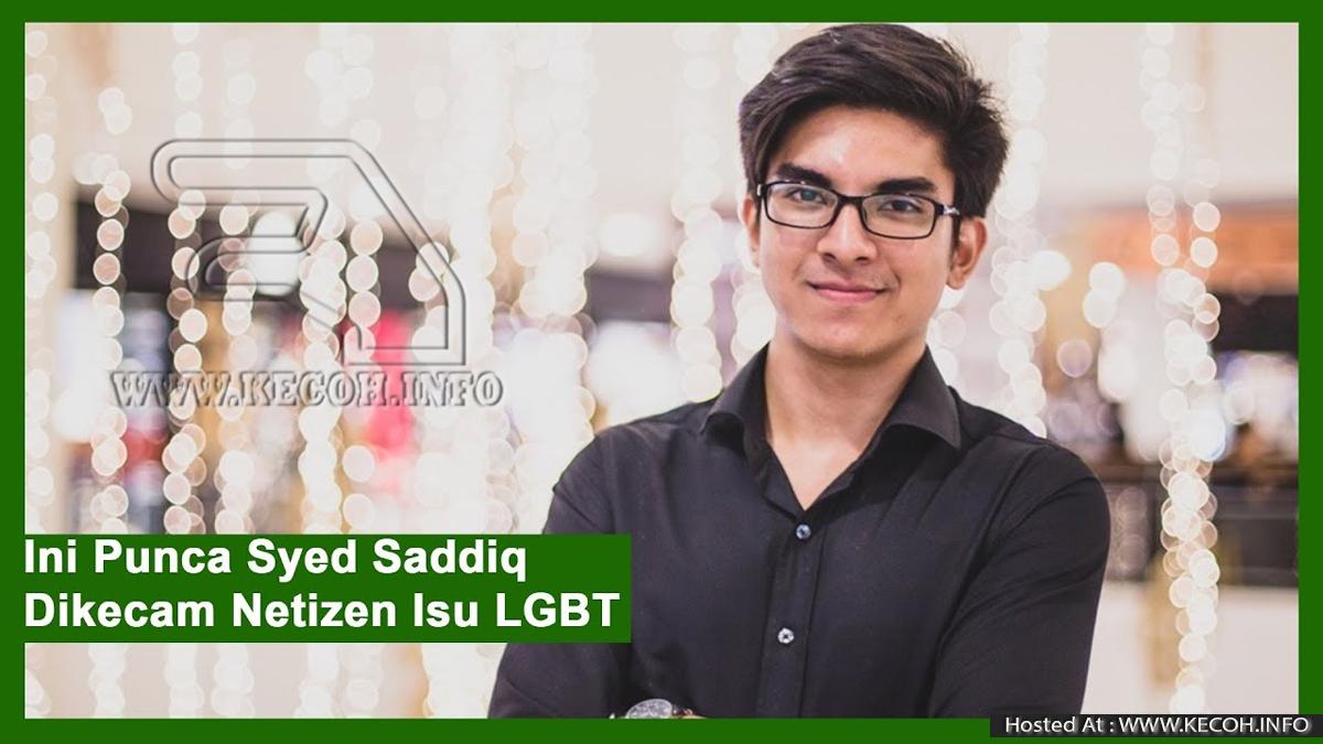 Syed Saddiq Kena Kecam Netizen Kerana Isu LGBT Dan Kutip Sampah Kutip Di Stadium