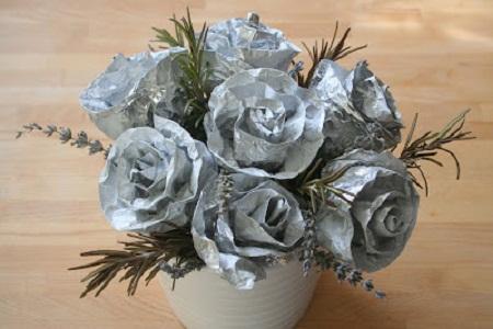Muyvariado Com Como Hacer Flores De Papel Aluminio Paso A Paso
