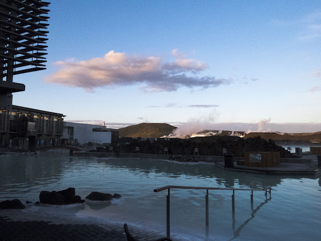 Iceland's Blue Lagoon under the Midnight Sun