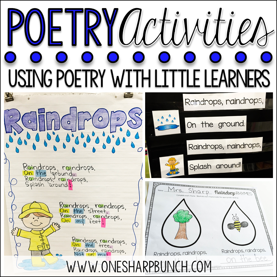 poetry activities for the primary classroom one sharp bunch. Black Bedroom Furniture Sets. Home Design Ideas