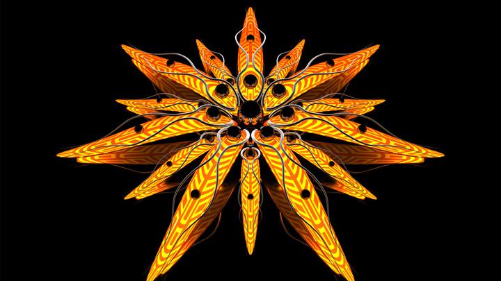3 boyutlu olarak hazırlanmış çiçek resimleri