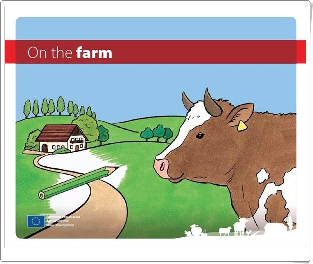 """""""On the farm"""" (Cuaderno para colorear la granja)"""