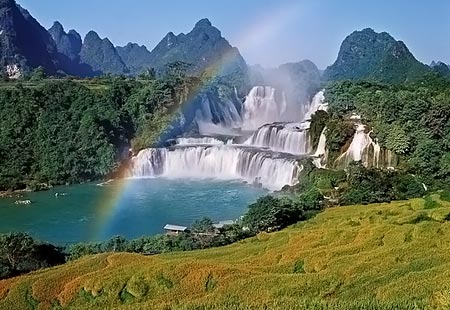 Dream Of Wallpaper Falling Down Find The Best Tours Ban Gioc Waterfall The Largest One