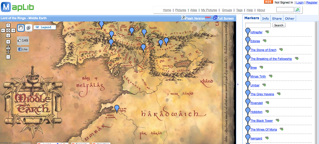 Free Technology for Teachers: Maps of Middle Earth on Google Maps
