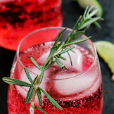 SPARKLING CRANBERRY LIME HOLIDAY COCKTAIL