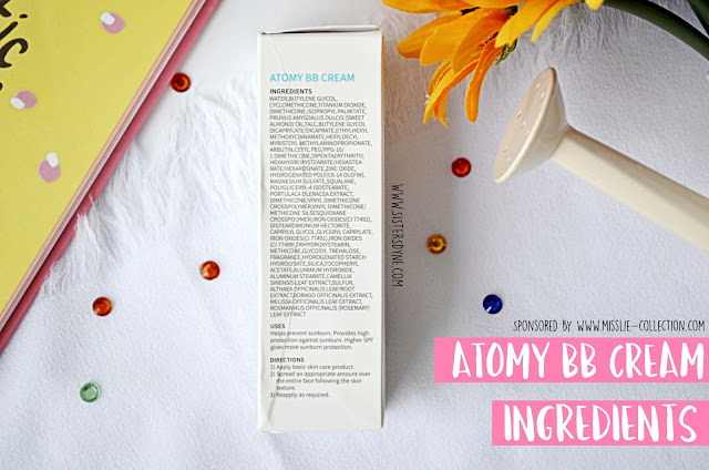 atomy bb cream ingredients