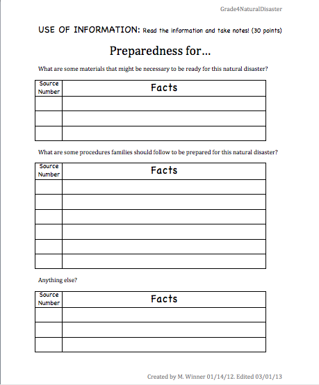 how to write a 5th grade science project report
