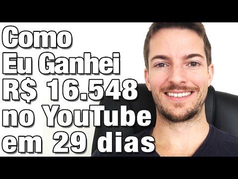 Como ganhar dinheiro no YouTube, vejam como eu ganhei R$ 16.548,00 em um mês