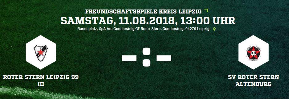 Roter Stern Altenburg Fussball Testspiel In Leipzig Bei