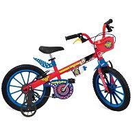 Bicicleta infantil Aro 16 DC Comics Liga da Justiça Mulher Maravilha Bandeirante