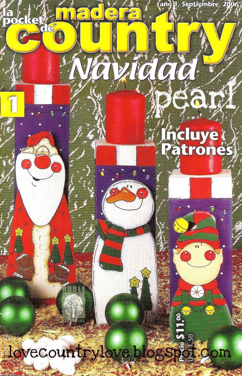 Lovecountrylove La Pocket De Madera Country Navidad 1
