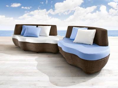 Italian rattan furniture