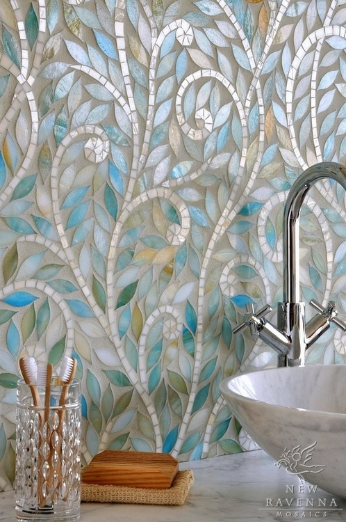 Dishfunctional designs the bohemian bathroom for Mosaic tile designs for bathrooms