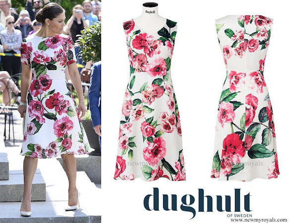 Crown princess Victoria wore DUGHULT OF SWEDEN Abigail Dress