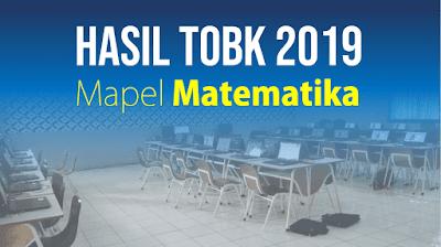 Hasil TOBK 2019 Mapel Matematika