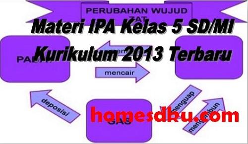 Materi IPA Kelas 5 SD/MI Kurikulum 2013 Terbaru