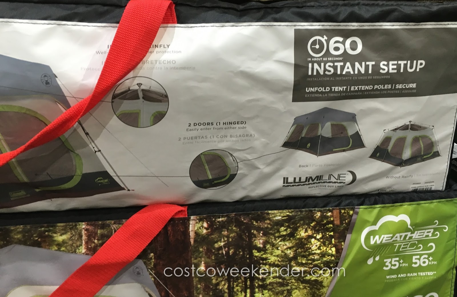 Enjoy the outdoors with the Coleman 10-Person Instant Cabin Tent & Coleman 10-Person Instant Cabin Tent | Costco Weekender