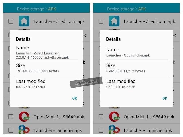 Download launcher android ukuran kecil