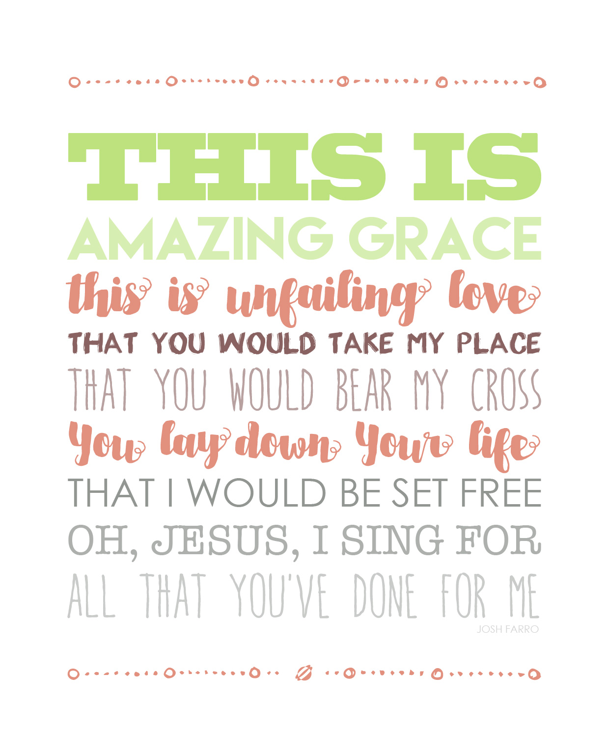Lostbumblebee Spring Easter Amazing Grace Jesus