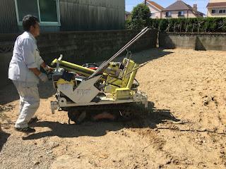 鈴鹿市自然素材の家 みのや 地盤調査