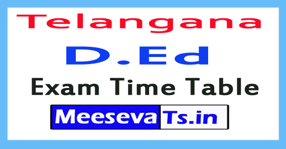 TS D.Ed Exam Time Table