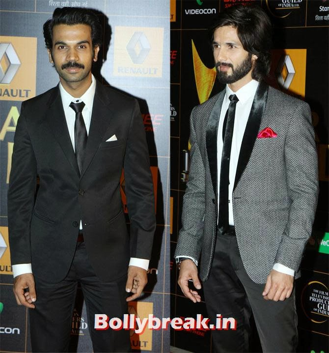 Raj Kumar Yadav and Shahid Kapoor, Star Guild Awards 2014 Pictures