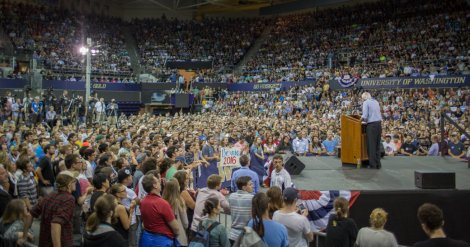 Bernie Sanders in Seattle, Washington