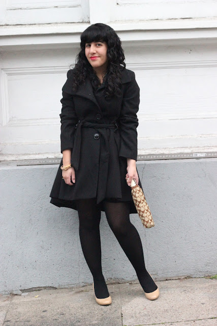 Black and Nude Winter Outfit Inspiration