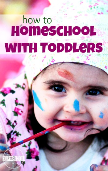 How to Homeschool with Toddlers - here are some great, practical suggestions for those trying to homeschool with little ones in the home wanting your attention.