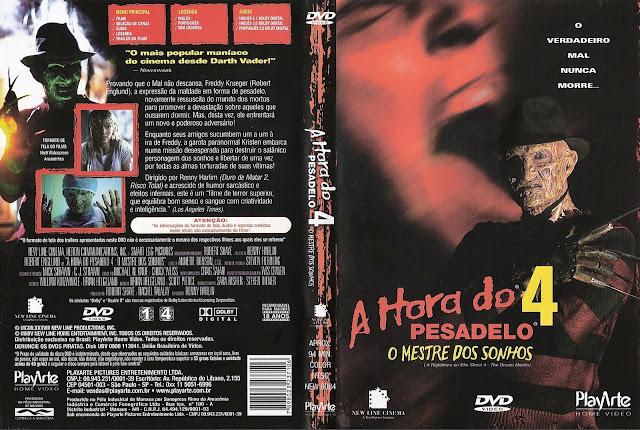 Capa DVD A Hora do Pesadelo 4 O Mestre dos Sonho