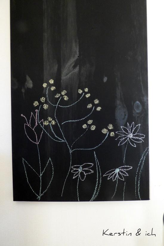 DIY Tafellack Frühling Blumen