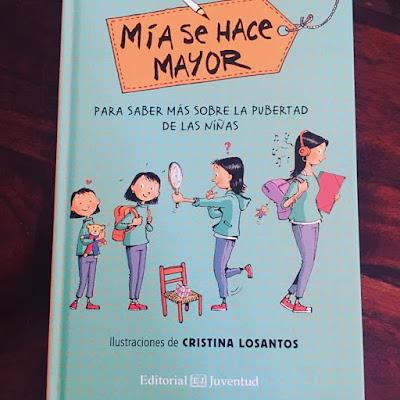 boolino, Mía se hace mayor, pubertad, editorial juventud, cristina losantos, que estás leyendo, yo leo, lecturas, libros, libro juvenil,