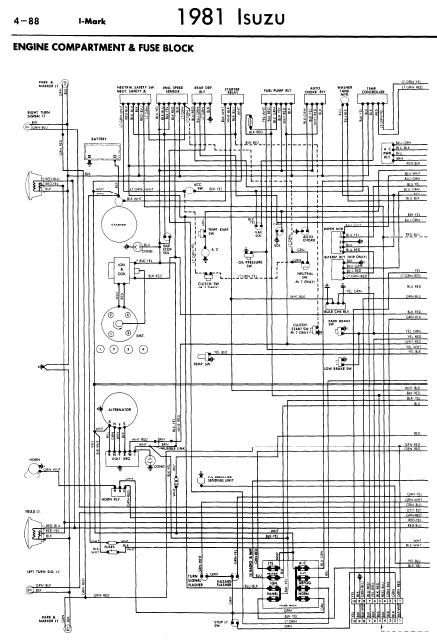 isuzu dmax electrical wiring diagram repair-manuals: isuzu i-mark 1981 wiring diagrams #3