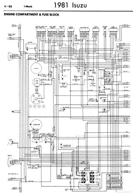repairmanuals: Isuzu IMark 1981 Wiring Diagrams