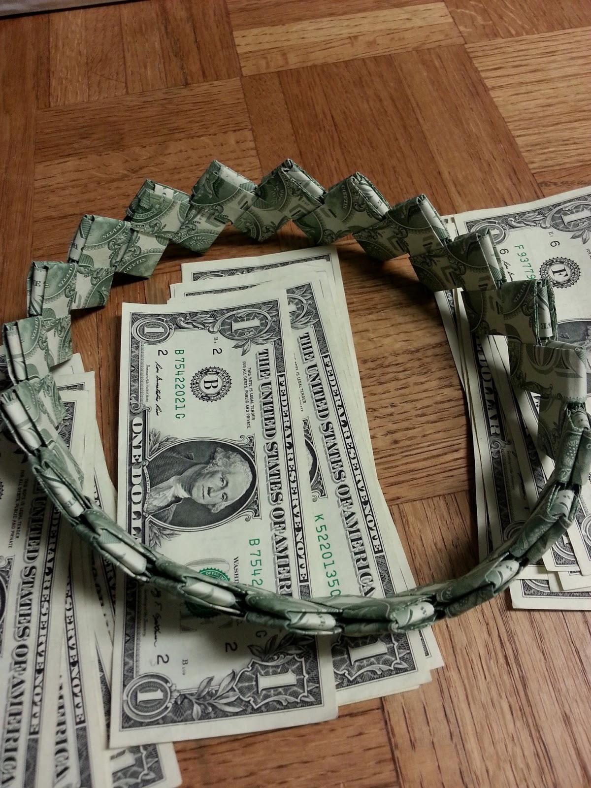 How to make dollar bill graduation lei