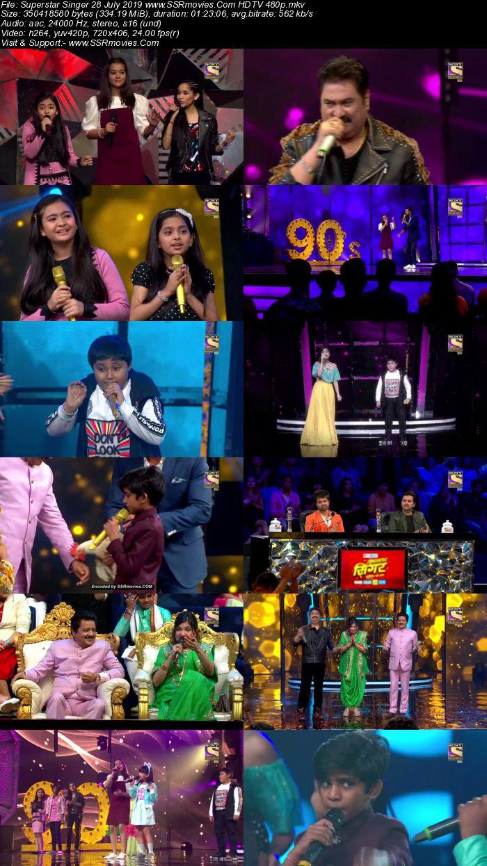 Superstar Singer 28 July 2019 HDTV 480p Full Show Download