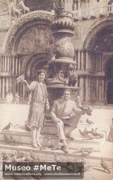 Luigi e Cristina Basile viaggio nozze a Venezia nel 1929