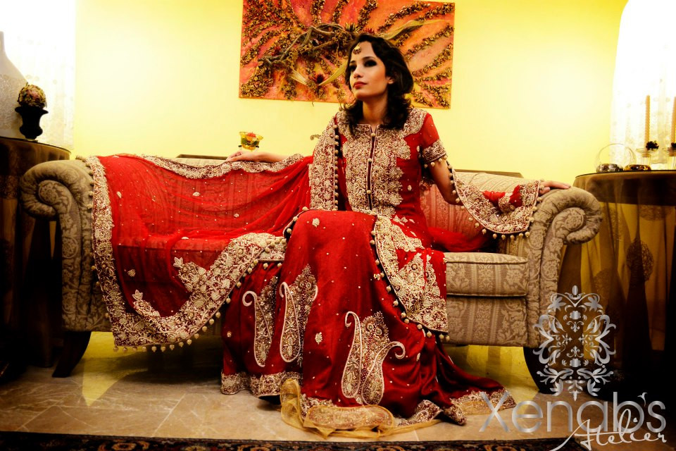 130b091d0 In recent times Xenab's Atelier has launched its new bridal wear collection  for 2012-2013. The entire collection consists of heavy embroidered bridal  ...
